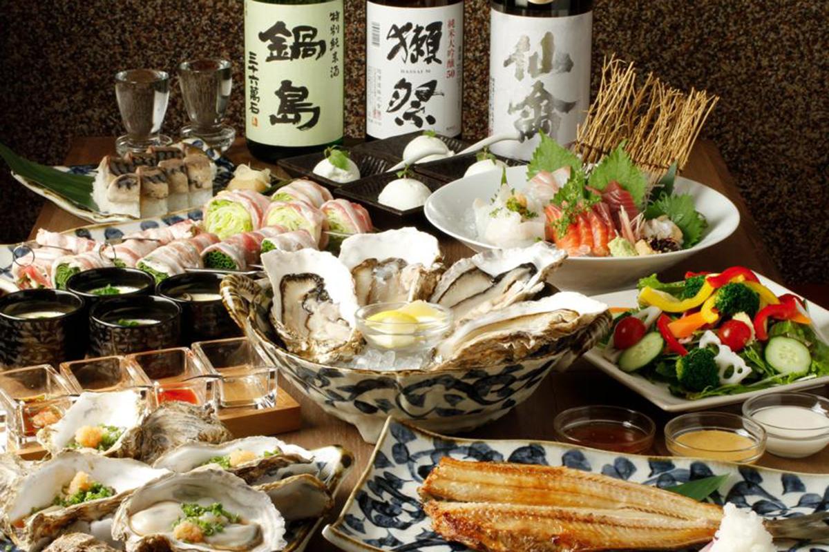 牡蠣ツ端コース料理